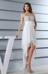 Simple Sweetheart Zipper Chiffon Hi-Lo Sequin Party Dresses