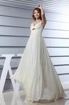 Elegant A-line Thick Straps Zip up Chiffon Plainness Wedding Guest Dresses