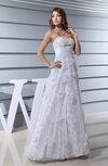 Classic Garden Sweetheart Zipper Floor Length Lace Bridal Gowns