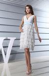 Modest Garden Scalloped Edge Zipper Knee Length Bridal Gowns