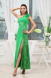 Modest Sheath Sleeveless Backless Ankle Length Evening Dresses