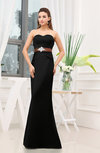Plain Sheath Sweetheart Zipper Floor Length Ruching Wedding Guest Dresses
