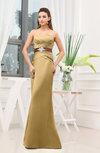 Plain Sheath Sweetheart Zipper Floor Length Ruching Wedding Guest Dresses