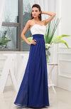 Simple A-line Sleeveless Zipper Chiffon Beaded Wedding Guest Dresses