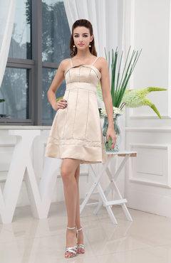 8e83d1faa50 Rosewater Pink Classic A-line Spaghetti Sleeveless Short Bridesmaid Dresses