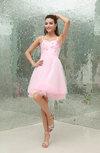 Cute Baby Doll Sleeveless Zipper Mini Beading Graduation Dresses
