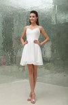 Elegant Spaghetti Sleeveless Chiffon Sequin Bridesmaid Dresses