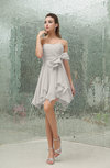 Plain A-line Sweetheart Zipper Mini Ruffles Bridesmaid Dresses
