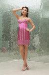 Plain Sheath Hook up Satin Mini Prom Dresses