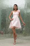 Cute A-line One Shoulder Sleeveless Backless Graduation Dresses