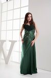 Classic Sleeveless Silk Like Satin Floor Length Paillette Wedding Guest Dresses
