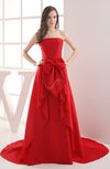 Classic Garden Strapless Sleeveless Backless Court Train Bridal Gowns
