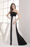 Plain A-line Strapless Floor Length Evening Dresses