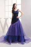 Elegant Sleeveless Zip up Court Train Tiered Evening Dresses