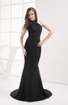 Modest Fishtail Halter Court Train Sequin Evening Dresses