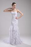 Cute Church Sheath Sleeveless Zip up Court Train Bridal Gowns