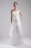 Disney Princess Outdoor A-line Sleeveless Organza Rhinestone Bridal Gowns