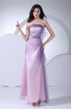 Modern Strapless Backless Ankle Length Ribbon Bridesmaid Dresses