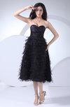 Casual A-line Sweetheart Sleeveless Zip up Little Black Dresses