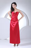 Sexy Sweetheart Sleeveless Backless Ankle Length Ruching Homecoming Dresses