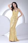 Modern Sheath Sleeveless Brush Train Paillette Prom Dresses