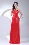 Elegant Column Strapless Sleeveless Silk Like Satin Sequin Party Dresses
