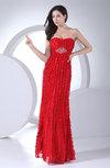 Glamorous Column Chiffon Floor Length Ruffles Evening Dresses