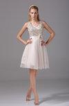 Cute Scoop Sleeveless Knee Length Prom Dresses