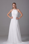 Classic Outdoor Sleeveless Criss-cross Straps Chiffon Plainness Bridal Gowns