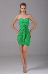 Elegant Sheath Sweetheart Sleeveless Zip up Ruching Graduation Dresses