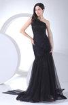 Elegant Trumpet One Shoulder Zipper Edging Prom Dresses