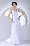 Glamorous Garden Trumpet Scoop Floor Length Ruching Bridal Gowns