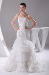 Modern Hall Trumpet Sleeveless Rhinestone Bridal Gowns