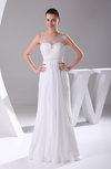 Modest Destination Column Illusion Sleeveless Bridal Gowns