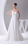 Elegant Hall A-line Sweetheart Sleeveless Chiffon Bridal Gowns