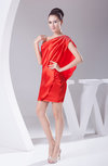 Modest Sheath Sleeveless Silk Like Satin Short Graduation Dresses