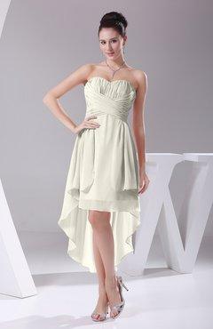 0c27a20ba57 Cream Informal A-line Sweetheart Chiffon Ruching Bridesmaid Dresses