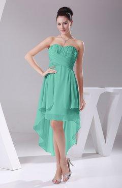 843ba0b2e6b Mint Green Informal A-line Sweetheart Chiffon Ruching Bridesmaid Dresses