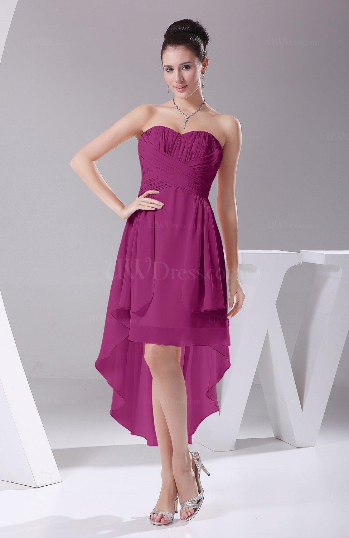 e63bb425bc5 Raspberry Informal A-line Sweetheart Chiffon Ruching Bridesmaid Dresses  (Style D82147)