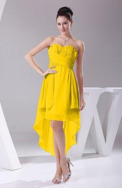 d1bccacd9cec Yellow Informal A-line Sweetheart Chiffon Ruching Bridesmaid Dresses