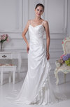 Modern Garden Spaghetti Sleeveless Court Train Appliques Bridal Gowns