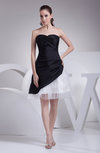 Informal A-line Sweetheart Sleeveless Taffeta Ruching Prom Dresses