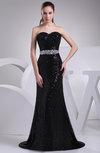 Elegant Sweetheart Zipper Brush Train Paillette Prom Dresses