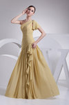 Modest Column Sleeveless Chiffon Ruching Evening Dresses