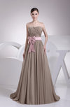 Classic Sweetheart Chiffon Court Train Sash Evening Dresses