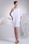 Casual Destination Sheath Elbow Length Sleeve Half Backless Mini Bridal Gowns