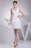 Casual Destination A-line V-neck Sleeveless Zip up Short Bridal Gowns