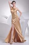 Sexy Column Asymmetric Neckline Sleeveless Silk Like Satin Ruching Evening Dresses