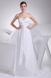 Romantic Outdoor A-line Sleeveless Chiffon Brush Train Bridal Gowns