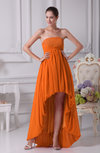 Cute A-line Strapless Lace up Chiffon Floor Length Party Dresses